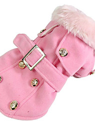 cheap -Dog Coat Dog Clothes American / USA Yellow Red Pink Cotton Costume For Spring &  Fall Winter Men's Women's Casual / Daily Windproof
