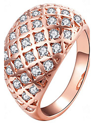 cheap -Women's Ring Gold Rose Gold Rose Gold Plated Circle Ladies Fashion Party Gift Jewelry