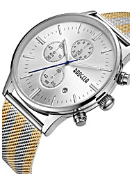 cheap -Men's Casual Watch Sport Watch Fashion Watch Japanese Japanese Quartz Stainless Steel Black / Silver / Gold 50 m Water Resistant / Waterproof Calendar / date / day Creative Analog Charm Luxury