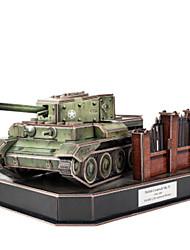 cheap -3D Puzzle Jigsaw Puzzle Model Building Kit Tank DIY Paper EPS Men's Boys' Toy Gift