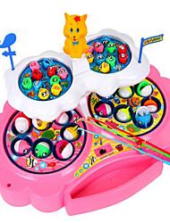 Недорогие -Рыболовные игрушки Вращающаяся Рыбалка Игрушка Рыбки Электрический 4 игрока Пластик Детские Игрушки Подарок 1 pcs