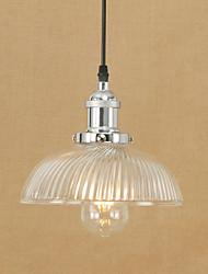 cheap -1-Light 22 cm Mini Style / Bulb Included / Eye Protection Pendant Light Metal Glass Electroplated Retro 110-120V / 220-240V