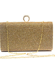 cheap -Women's Rhinestone / Sparkling Glitter leatherette Evening Bag Black / Gold / Silver
