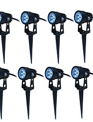 cheap -JIAWEN 8pcs LED Garden Spot Lamp Landscape 3W Outdoor Lighting AC85-265v LED Lawn Lamp Waterproof IP65