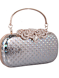 cheap -Women's Bags leatherette Clutch Rhinestone MiniSpot for Wedding / Party / Event / Party Black / Gold / Silver