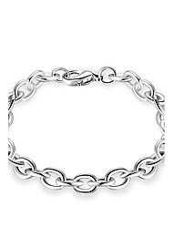 cheap -Men's Women's Chain Bracelet Geometrical Personalized Luxury Classic Simple Style Sterling Silver Bracelet Jewelry Gold / Silver For Christmas Party Holiday Work Club / Gold Plated