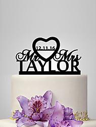 cheap -Cake Topper Classic Theme / Wedding Plastic Wedding / Anniversary with 1 pcs Poly Bag