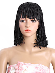 cheap -Synthetic Wig Bob Wig Natural Black #1B Medium Brown Synthetic Hair Kanekalon Hair Black Brown
