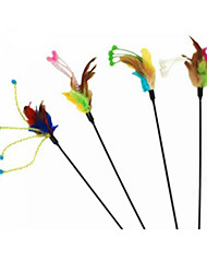 cheap -Teaser Feather Toy Cat Toy Pet Toy Stick Textile Gift