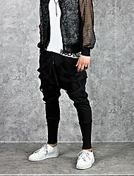cheap -Men's Active / Street chic Sports Weekend Loose Harem / Sweatpants Pants - Solid Colored Black XL XXL XXXL