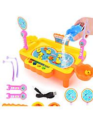 Недорогие -Рыболовные игрушки Вращающаяся Рыбалка Игрушка Рыбки Магнитный 2 игрока Пластик Детские Игрушки Подарок 1 pcs