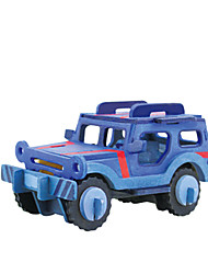 cheap -RUOTAI 3D Puzzle Vehicles Car Handmade Wooden 1 pcs DIY Kid's Toy Gift