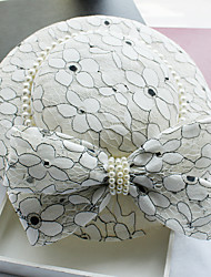 cheap -Imitation Pearl / Leather / Lace Fascinators / Hats with 1 Wedding / Special Occasion / Birthday Headpiece
