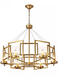 cheap -6-Light 80 cm Pendant Light Metal Glass Electroplated Chic & Modern 110-120V / 220-240V