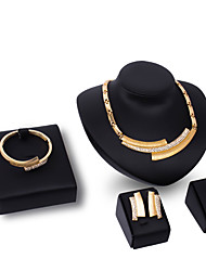cheap -Women's Pendant Necklace Ladies Personalized Fashion Rhinestone Gold Plated Earrings Jewelry Gold For Party Engagement