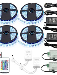 cheap -1 Set 20M(4x5M) Led Strip Kit RGB Tiktok Lights Waterproof LED Strip Lights 5050 10mm 1200led with2PCS 24key Ir Controller and 2PCS 6A Power Supply(UL) with 2Pcs Signal Amplifier Repeater