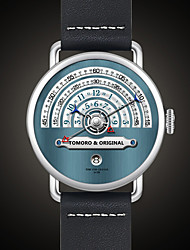 cheap -Men's Sport Watch Military Watch Wrist Watch Japanese Quartz Stainless Steel Leather Black / Brown / Gold 30 m Water Resistant / Waterproof Calendar / date / day Creative Analog Ladies Charm Luxury