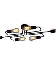 cheap -BriLight 6-Light 28 cm Extended / Designers Flush Mount Lights Metal Black Chic & Modern 110-120V / 220-240V / E26 / E27