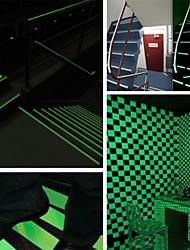 abordables -bandes lumineuses lueur bandes d'avertissement brillent dans l'obscurité lignes d'urgence autocollant mur vinyle autocollant bande fluorescente