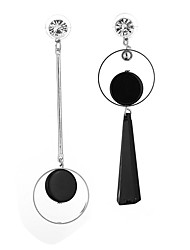 cheap -Women's Synthetic Diamond Drop Earrings Mismatch Earrings Geometrical Ladies Classic Fashion Earrings Jewelry Black For Daily Evening Party