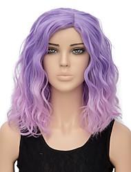 Недорогие -Парики из искусственных волос Волнистые Лёгкие волны Парик Розовый Короткие Розовый / Фиолетовый Искусственные волосы Жен. Волосы с окрашиванием омбре Розовый Фиолетовый