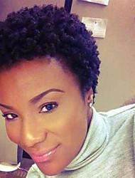 cheap -Human Hair Capless Wigs Human Hair Curly Short Hairstyles 2019 African American Wig / For Black Women Short Machine Made Wig Women's