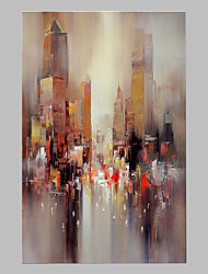 cheap -Hand-Painted Abstract Horizontal Panoramic,Artistic Abstract Outdoor One Panel Canvas Oil Painting For Home Decoration