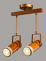 cheap -2-Light Spot Light Ambient Light Painted Finishes Metal Wood / Bamboo Designers 220-240V Bulb Included / GU10