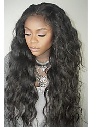 cheap -Human Hair Lace Front Wig Layered Haircut style Brazilian Hair Wavy Wig 130% Density with Baby Hair Natural Hairline For Black Women 100% Virgin Unprocessed Women's Short Medium Length Long Human