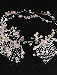 cheap -Crystal / Imitation Pearl Headbands / Hair Combs / Hair Tool with 1 Wedding / Party / Evening Headpiece