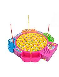 Недорогие -Рыболовные игрушки Музыкальная Игрушка Вращающаяся Рыбалка Игрушка Рыбки Электрический 4 игрока Пластик Детские Игрушки Подарок 1 pcs