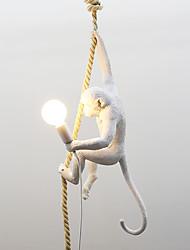 abordables -nouveauté lampe suspendue corde de chanvre lumière ambiante finitions peintes finitions résine mini style 110-120v / 220-240v blanc chaud / blanc froid ampoule non incluse / fcc / e26 / e27