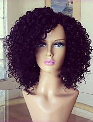 cheap -Human Hair Full Lace Wig Layered Haircut with Baby Hair style Brazilian Hair Curly Wig 130% Density Natural Hairline For Black Women 100% Virgin Unprocessed Women's Short Medium Length Long Human