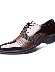cheap -Men's Formal Shoes PU Spring / Fall Business Oxfords Walking Shoes Black / Brown / Wedding / Party & Evening / Party & Evening / Outdoor / EU40