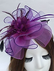 cheap -Feather / Net Headbands / Fascinators with 1 Wedding / Party / Evening Headpiece