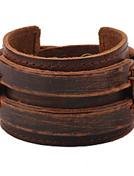 cheap -Men's Leather Bracelet Fashion Hip-Hop Leather Bracelet Jewelry Black / Brown For Casual Stage