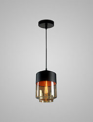 cheap -1-Light 18 cm Bulb Included / Adjustable / Designers Pendant Light Metal Glass Cylinder Painted Finishes Chic & Modern 110-120V / 220-240V