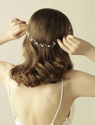 cheap -Pearl Headbands / Flowers / Head Chain with 1 Wedding / Special Occasion / Anniversary Headpiece
