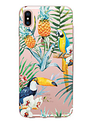 cheap -Case For Apple iPhone X / iPhone 8 Plus / iPhone 8 Transparent / Pattern Back Cover Animal / Fruit / Flower Soft TPU