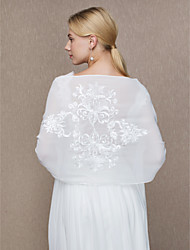 cheap -Chiffon Wedding / Party / Evening Women's Wrap With Appliques Shawls