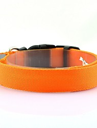 cheap -Dog Collar LED Lights Strobe / Flashing Solid Colored Terylene White Yellow