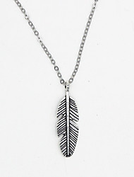cheap -Women's Pendant Necklace Chain Necklace Leaf Wings Bohemian Vintage Fashion Alloy Silver Necklace Jewelry For Gift Daily Casual Street Club