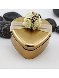 cheap -Round / Square Iron(nickel plated) Favor Holder with Printing Favor Boxes / Candy Jars and Bottles / Gift Boxes - 10