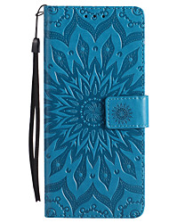 cheap -Case For Sony Xperia Z5 / Sony Xperia Z4 / Sony Xperia Z3 Sony Xperia Z2 / Sony Xperia Z3 / Sony Xperia Z3 Compact Wallet / Card Holder / with Stand Full Body Cases Flower Hard PU Leather