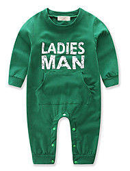 cheap -Baby Boys' Dresswear Christmas Solid Color / Other Long Sleeve Cotton Overall & Jumpsuit Green / Toddler