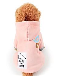 abordables -Chat Chien Manteaux Hiver Vêtements pour Chien Rose Bleu de minuit Costume Flanelle Animal Décontracté / Quotidien Garder au chaud S M L