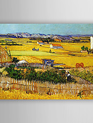 cheap -Oil Painting Hand Painted - Landscape Comtemporary Stretched Canvas / Rolled Canvas