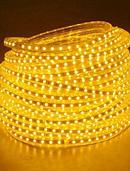 cheap -20M 220V High Bright LED Light Strip Flexible 5050 1200SMD Three Crystal Waterproof Light Bar Garden Lights with EU Power Plug