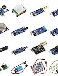 abordables -Diy 16 in 1 kit de module de capteur pour framboise pi