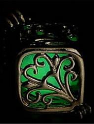cheap -Women's Luminous Stone Pendant Necklace Engraved Ladies Personalized Luminous Luminous Stone Alloy Orange Light Blue Light Green Necklace Jewelry For Halloween Club